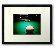 A Game of Pool 02 Framed Print