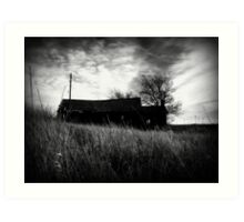 ness city farmstead Art Print
