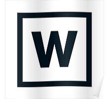 "Alphabet ""W"" Poster"