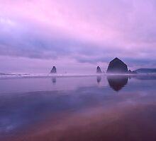 Cannon Beach reflections by Dan Mihai
