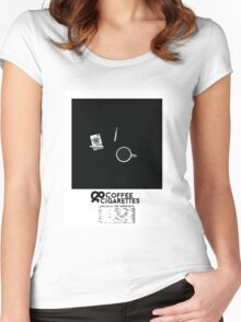 Coffee & Cigarettes Poster Women's Fitted Scoop T-Shirt