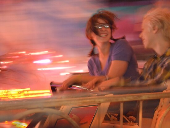 Riding the Roller Coaster at the Fair by Mikeinbc1