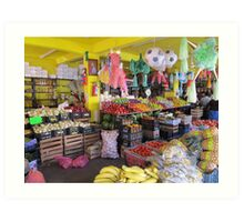 Colourful mexican farmers market Art Print