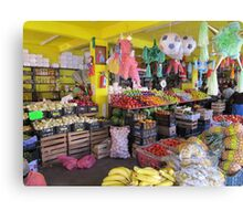 Colourful mexican farmers market Canvas Print