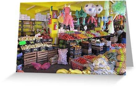 Colourful mexican farmers market by Bernhard Matejka