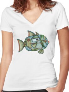 Aqua Gypsy Women's Fitted V-Neck T-Shirt