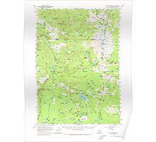 USGS Topo Map Oregon Mt Jefferson 282746 1961 62500 Poster
