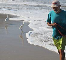 Fisherman with egrets - Pescador con garzas blancas by Bernhard Matejka