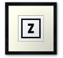 """Alphabet """"Z"""" Framed Print"""