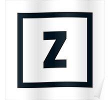 "Alphabet ""Z"" Poster"