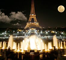 Eiffel Tower at Night by JonDelorme