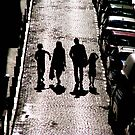 Family silhouette by Clare Forder