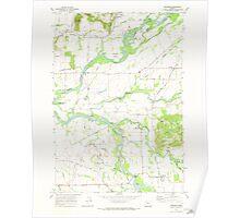 USGS Topo Map Oregon Crabtree 279481 1970 24000 Poster