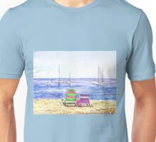 Two Chairs On The Beach Unisex T-Shirt