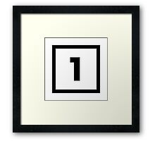 "Alphabet ""1"" Framed Print"