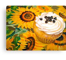 Cupcakes and Sunflowers... Canvas Print