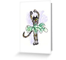Ballerina Cat Greeting Card
