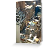 New York Tilt Shift Greeting Card