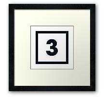 "Alphabet ""3"" Framed Print"