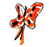 Orange Butterfly by Suzy Woodall