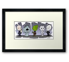 Doctor Who Monsters ... Peanuts Style Framed Print