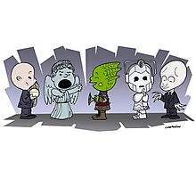 Doctor Who Monsters ... Peanuts Style Photographic Print