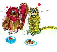Love Cats (Two) by Suzy Woodall