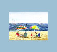 Two Umbrellas On The Beach California  Unisex T-Shirt