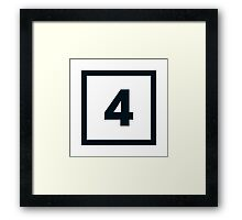 "Alphabet ""4"" Framed Print"