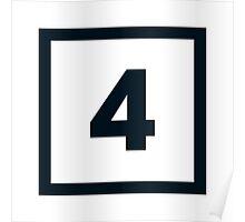 "Alphabet ""4"" Poster"