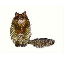Big Brown Cat Art Print