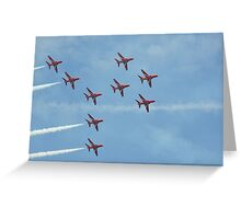 Red Arrows 13 Greeting Card