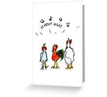 Caroling Chickens Greeting Card