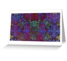 Framed - Abstract fractal Greeting Card