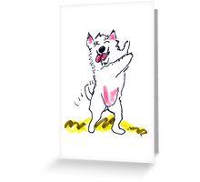 Dancin' Doggy Greeting Card