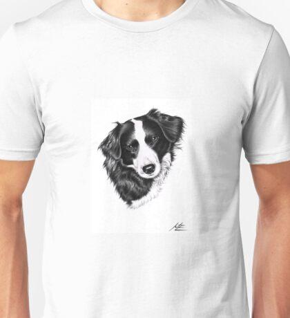Border Collie Portrait Unisex T-Shirt