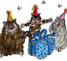 Birthday Cats by Suzy Woodall