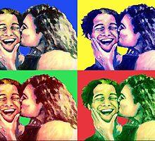 The Kiss PopArt by Nicole Zeug