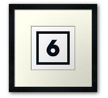 "Alphabet ""6"" Framed Print"