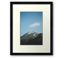 Mountains in the background VIII Framed Print