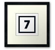 "Alphabet ""7"" Framed Print"