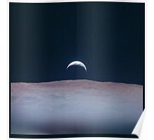 Apollo Archive 0057 Moon Earthrise Earth Rise from Lunar Orbit Poster