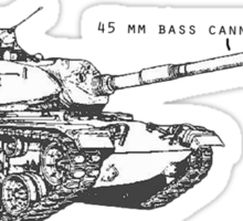45 mm Bass Cannon Sticker