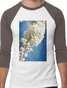 Thoughts Are Living Blossom Men's Baseball ¾ T-Shirt