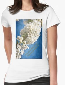 Thoughts Are Living Blossom Womens Fitted T-Shirt