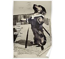 Yoga Dog Holds the Pose Poster