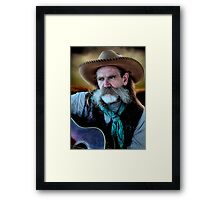Cowboy In His Sunset Years Framed Print