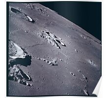 Apollo Archive 0055 Moon Craters from Orbit Poster