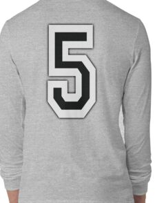 5, TEAM SPORTS, NUMBER 5, FIFTH, FIVE, Competition, Long Sleeve T-Shirt