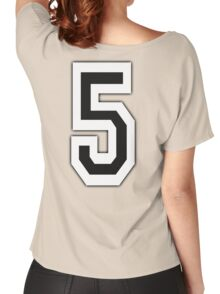 5, TEAM SPORTS, NUMBER 5, FIFTH, FIVE, Competition, Women's Relaxed Fit T-Shirt